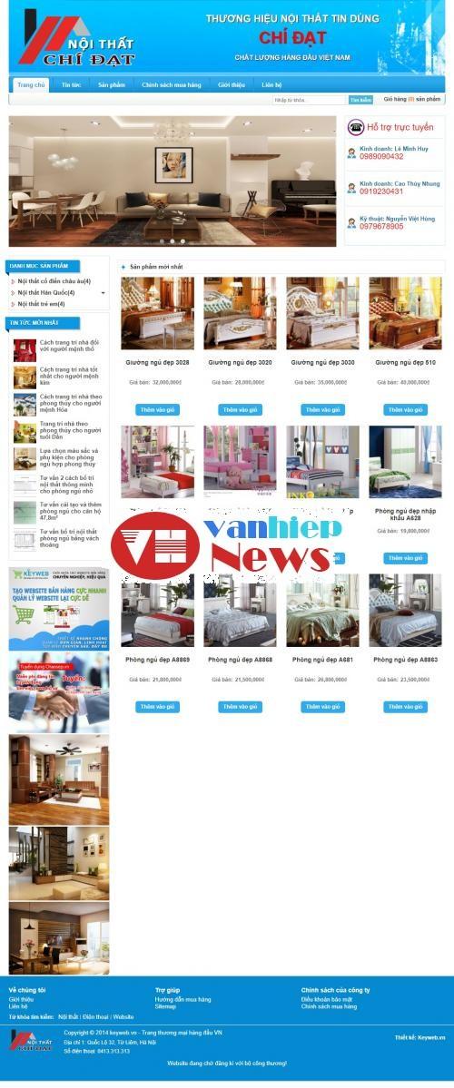 Thiết kế web giường ngủ - nội thất