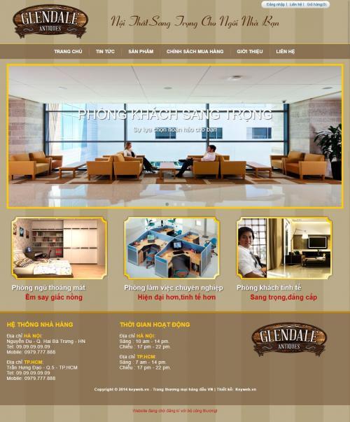 Thiết kế web nội thất đồ gỗ