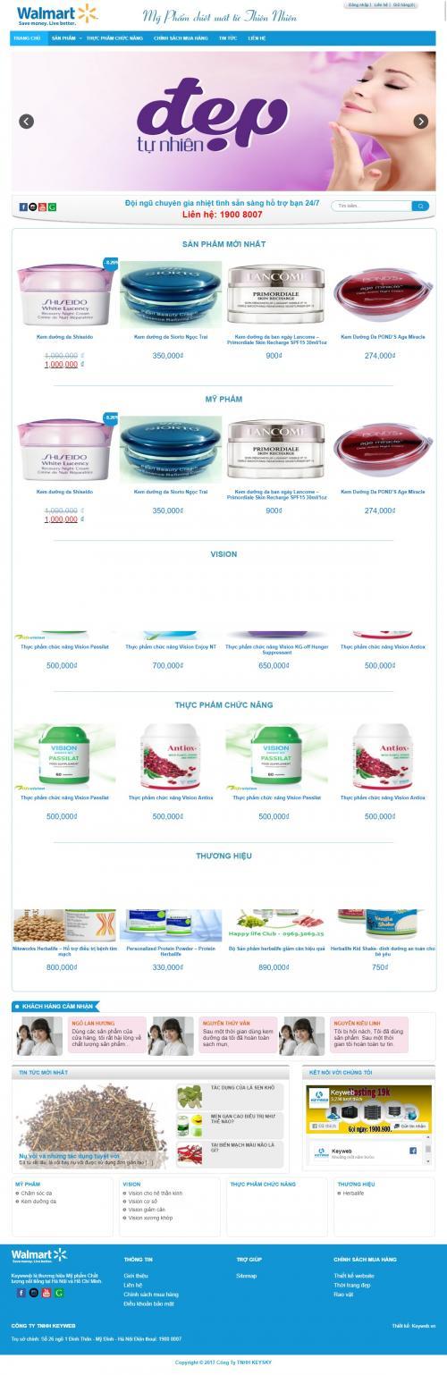 Thiết kế web bán mỹ phẩm đẹp