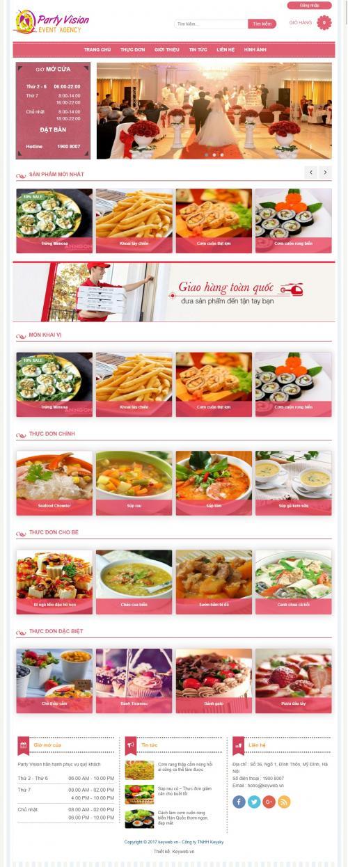 Thiết kế website bán đồ ăn