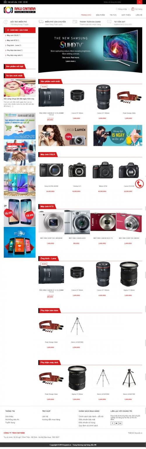 Thiết kế website bán máy ảnh