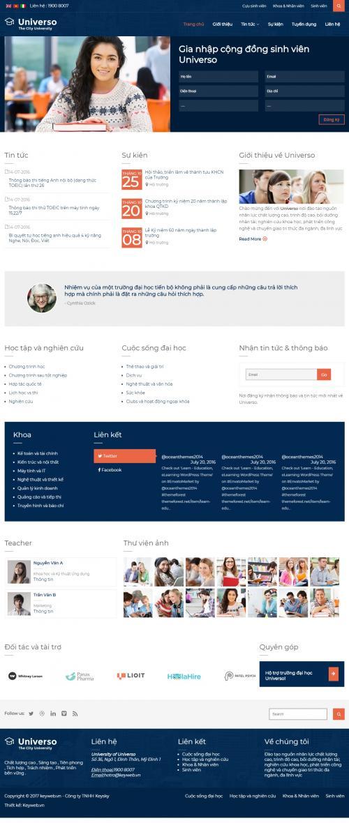 THiết kế web giáo dục dạy học