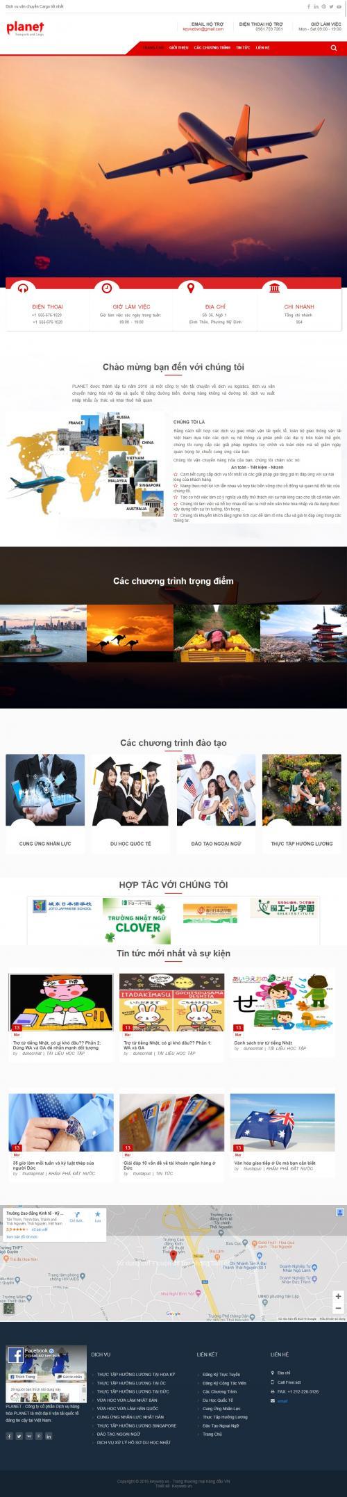 Thiết kế web dịch vụ du lịch