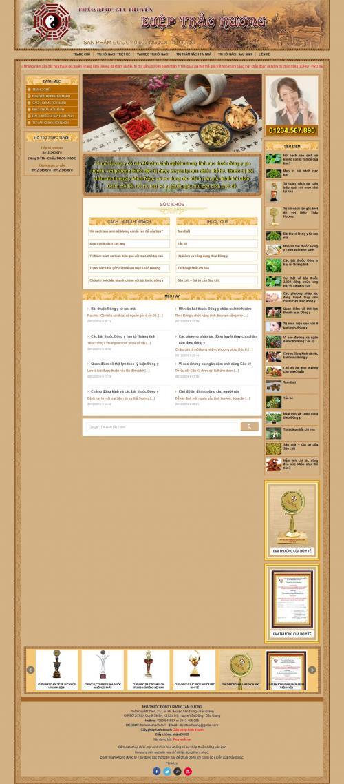 Thiết kế web bán thuốc đông y