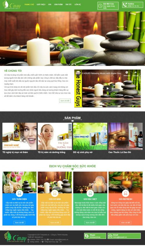 Thiết kế web làm đẹp spa