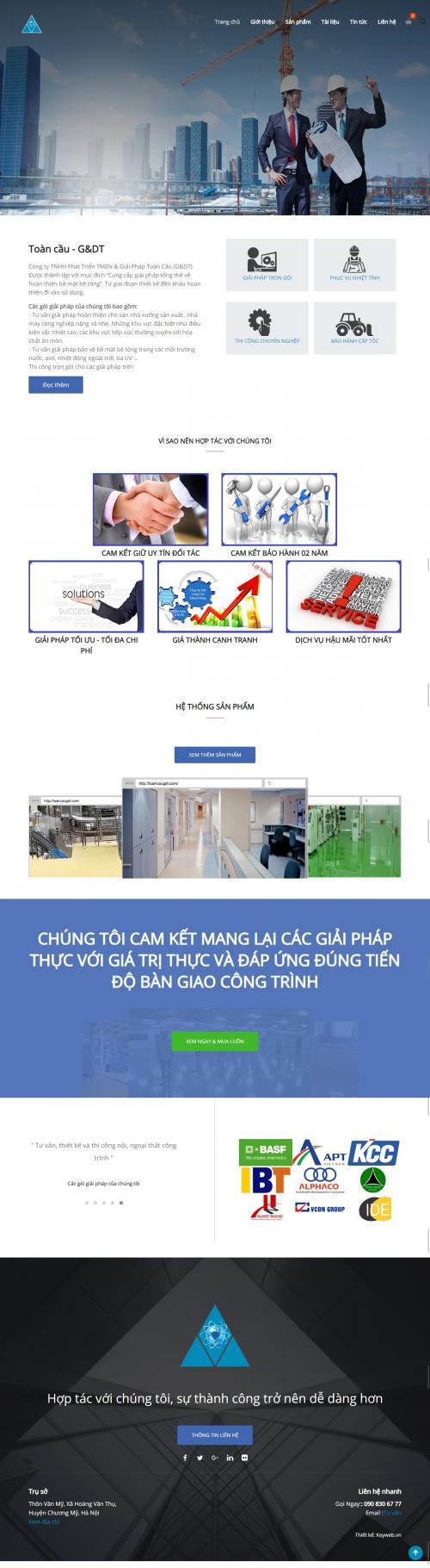 THiết kế website công ty xây dựng công trình