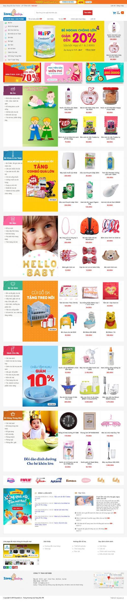 Thiết kế web bán đồ chơi trẻ em