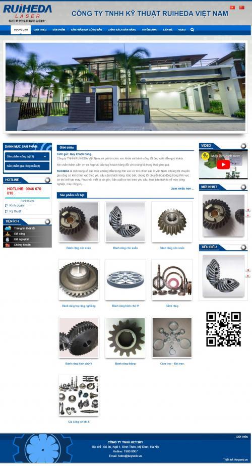 Thiết kế website công ty cơ khí chế tạo máy