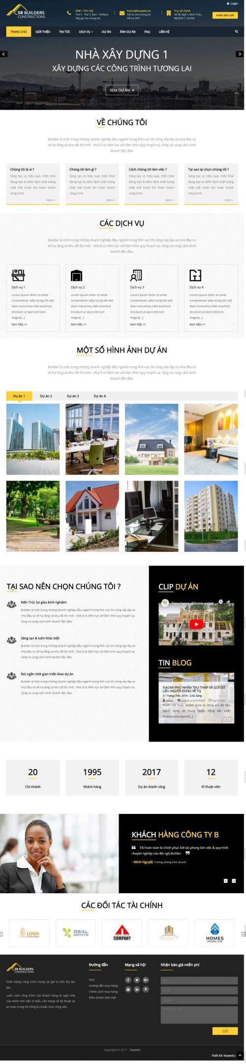 Thiết kế website công ty xd 2