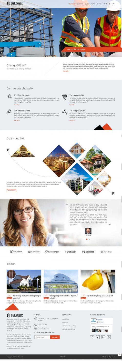 Thiết kế website công ty xây dựng 3