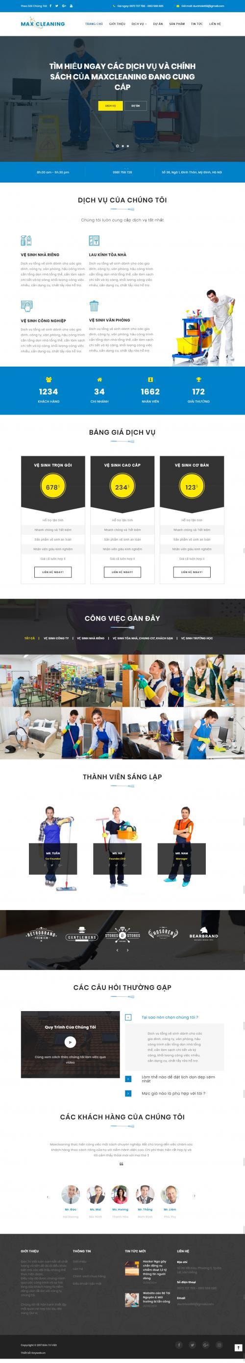 Thiết kế website dịch vụ giúp việc1