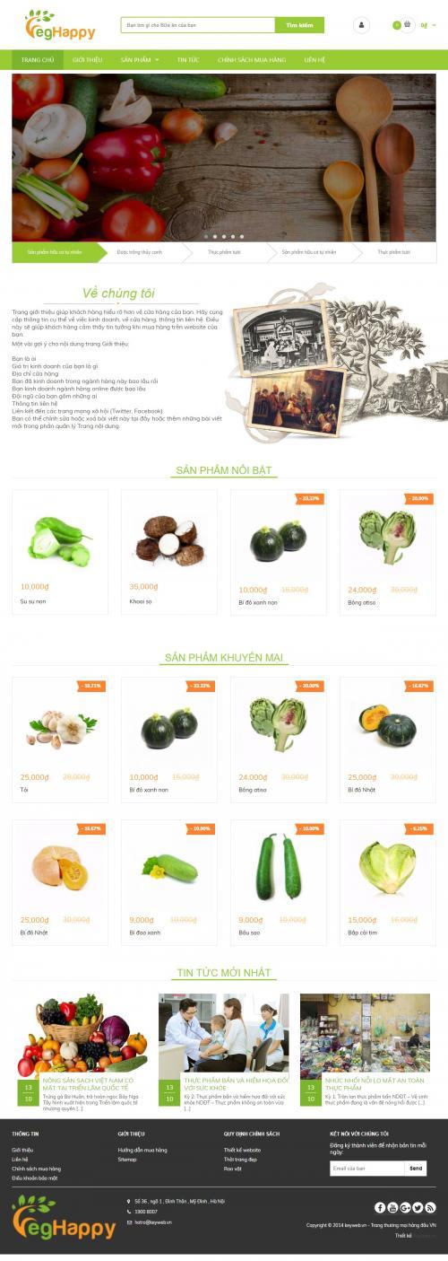 Thiết kế website bán nông sản 2