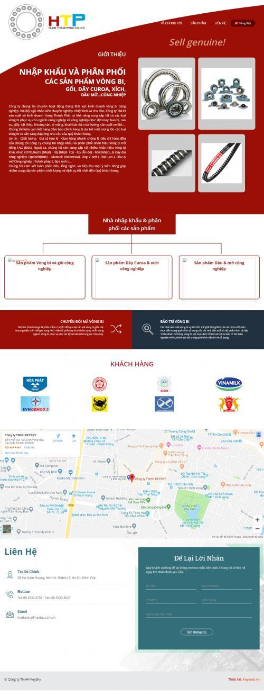 Thiết kế website công ty cơ khí
