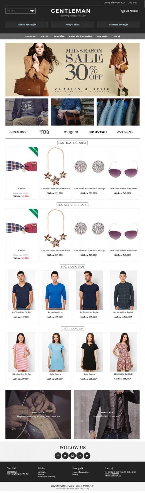Dự án shop thời trang online