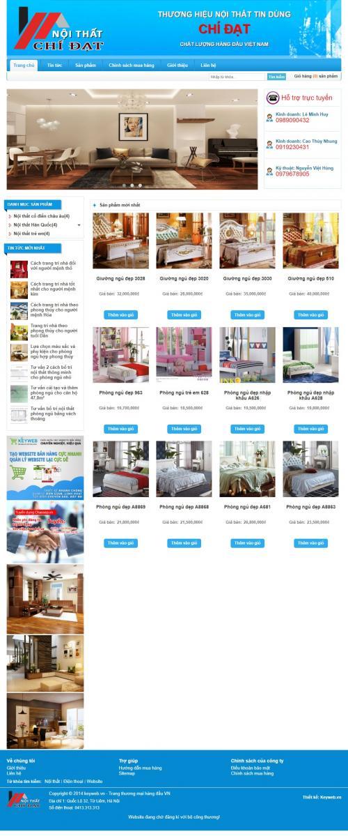 Tổng hợp các mẫu website đã làm