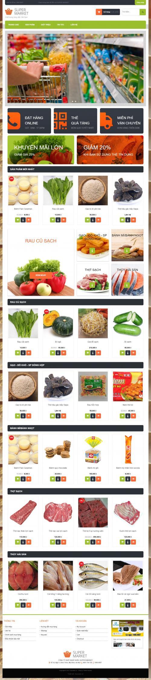 Dự án siêu thị nông sản