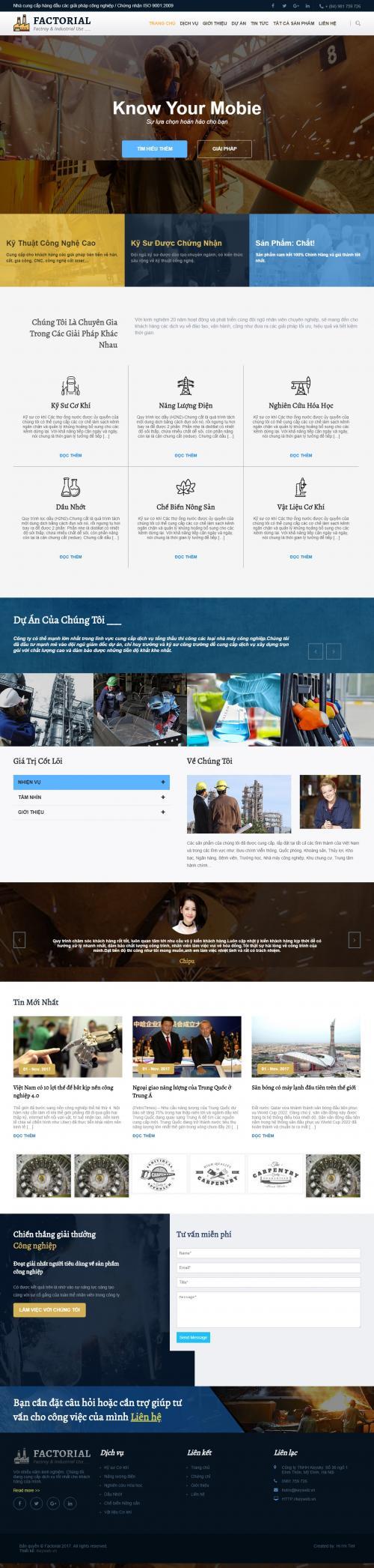 Thiết kế website công ty xây dựng 2