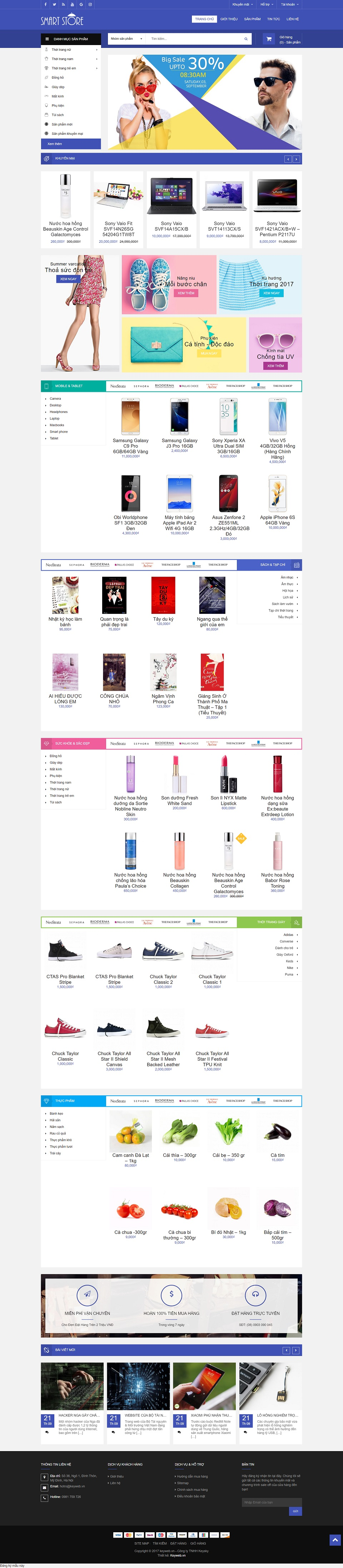 Mẫu website shop công nghệ Smart store