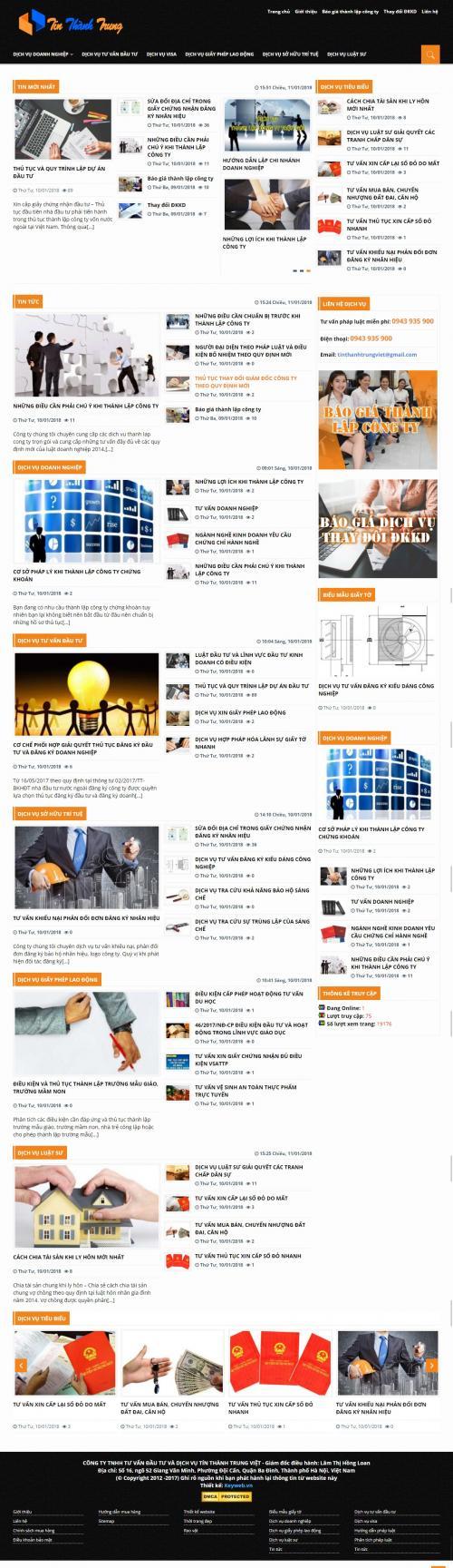 Thiết kế website công ty tài chính 2