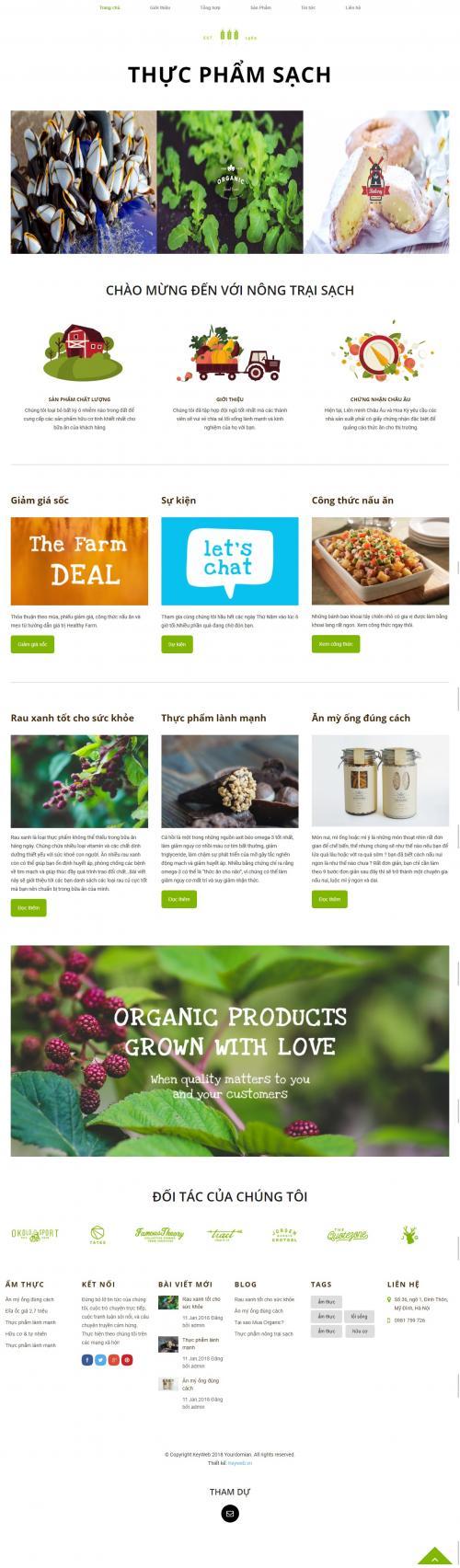 Thiết kế website bán thực phẩm sạch