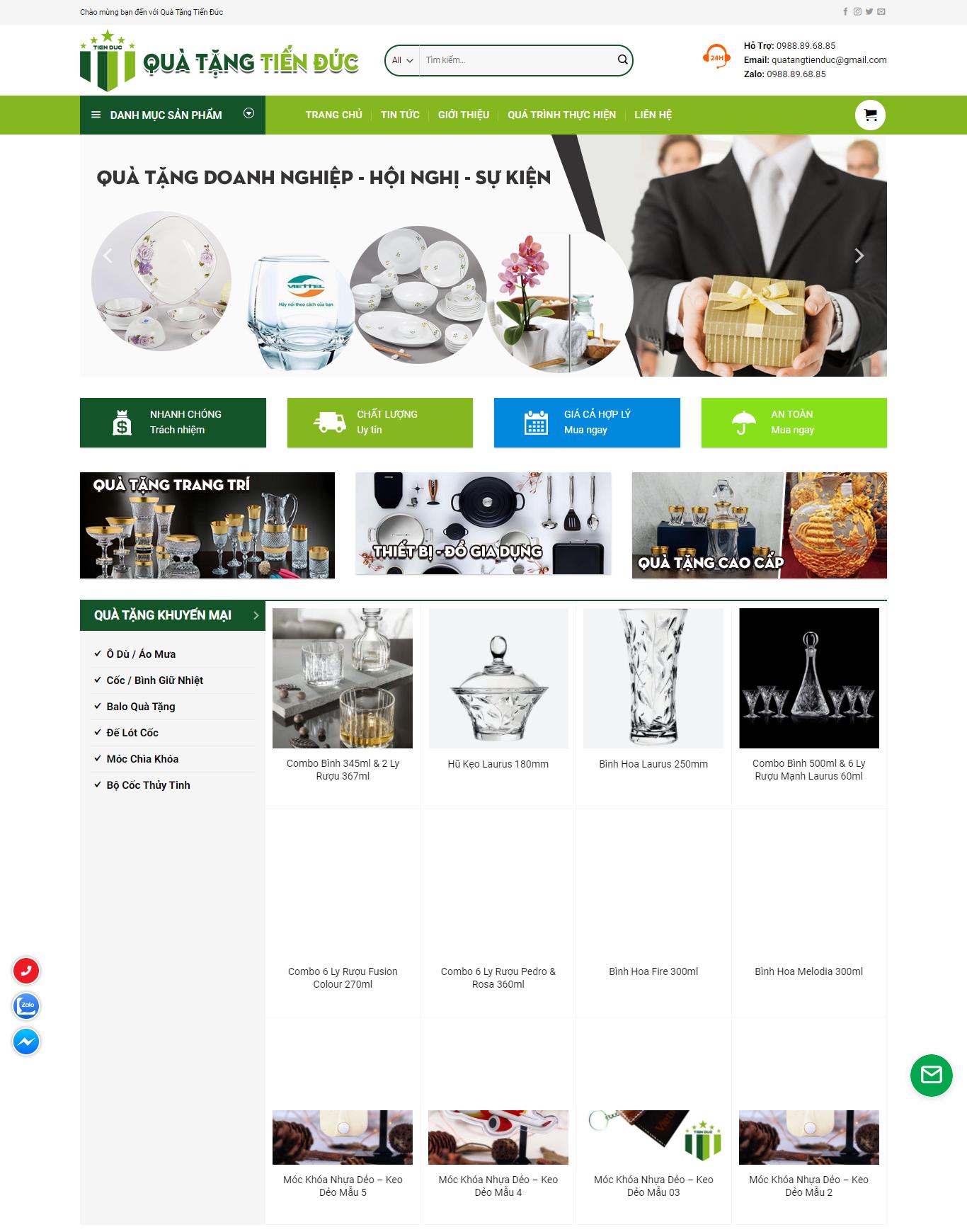 dự án web bán hàng giá rẻ